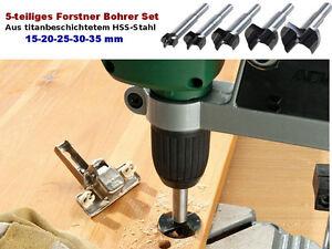 5-tlg-Forstner-Bohrer-Set-15-35-mm-Holzbohrer-Kunstbohrer-Holz-Topfbohrer-NEU