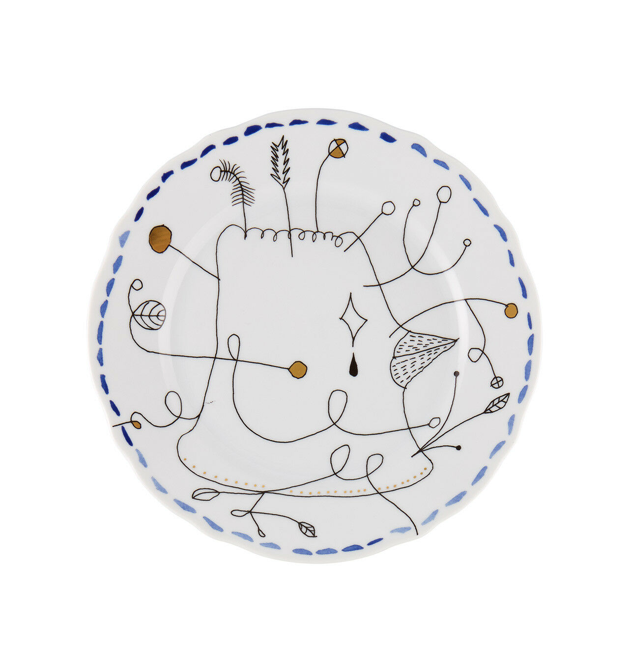 Vista Alegre Folkifunki Dessert Plate bleu - Set of 8