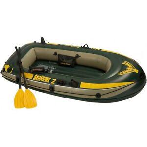 Intex-Seahawk-2-Set-Grun-236x114x41cm-Paddelboot-Schlauchboot-Gummiboot-WOW