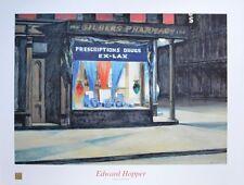 Edward Hopper Drug Store Poster Kunstdruck Bild 60x80cm