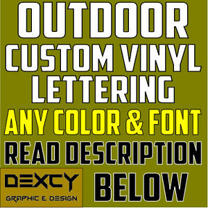 3/'/' CUSTOM VINYL LETTERING//TEXT Car Window Personalized Wall