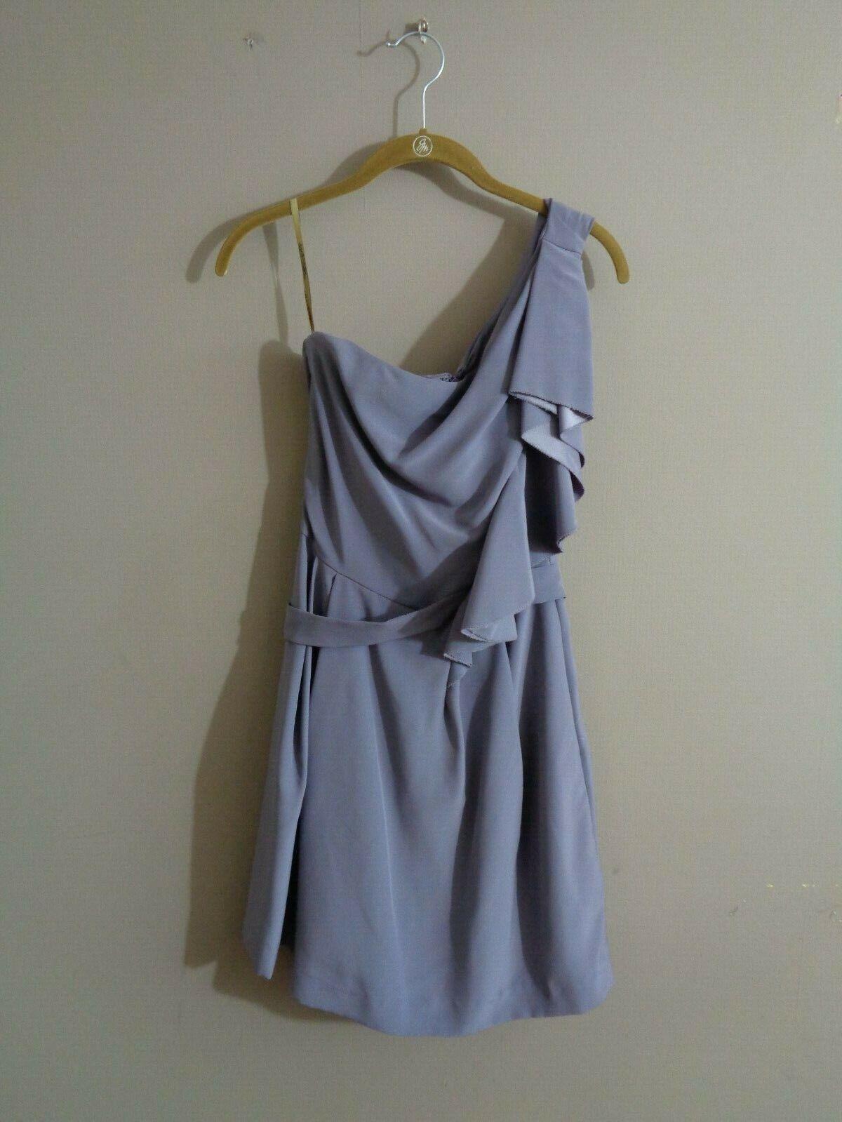 Lela Rose Bridesmaid Women's Sz 4 One Shoulder Dress in Wisteria Purple LR140XX