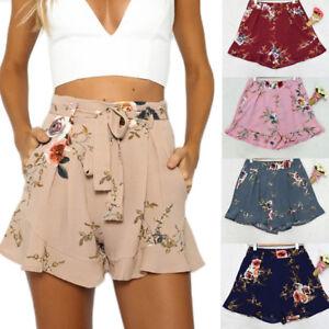 2b3819c66 Women Hot Pants Summer Casual Loose Shorts Bow Beach High Waist ...