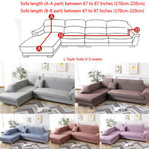 L-Shape-Sectional-Sofa-Cover-2pc-Polyester-Fabric-Stretch-Slipcovers-Pillowcase