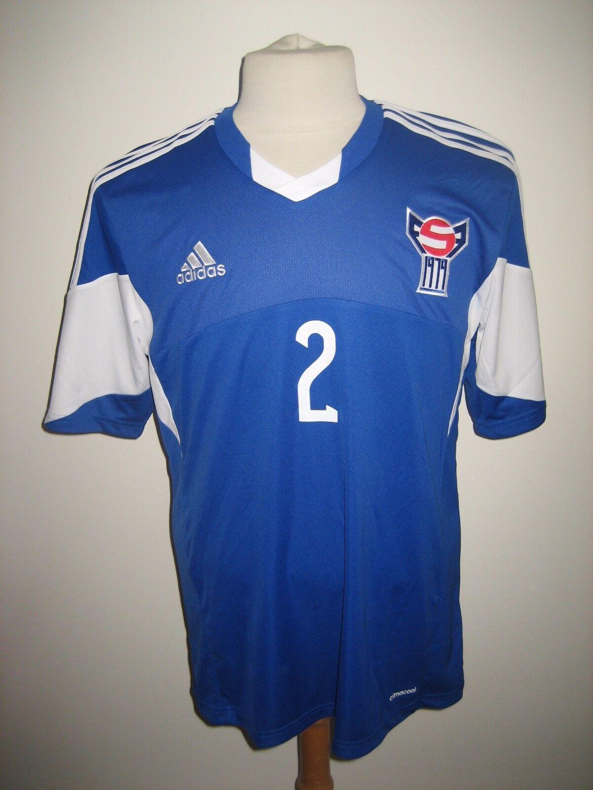 Faroe Islands MATCH WORN football shirt soccer jersey maillot trikot Dimensione L