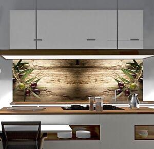 Details zu Küchenrückwand OLIVE SP685 Premium AcrylGlas überdeckt Fugen  Küche Spritzschutz