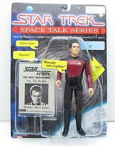 """Star Trek Space Talk Series  Q 7"""" figure Playmates 1995 MOC"""