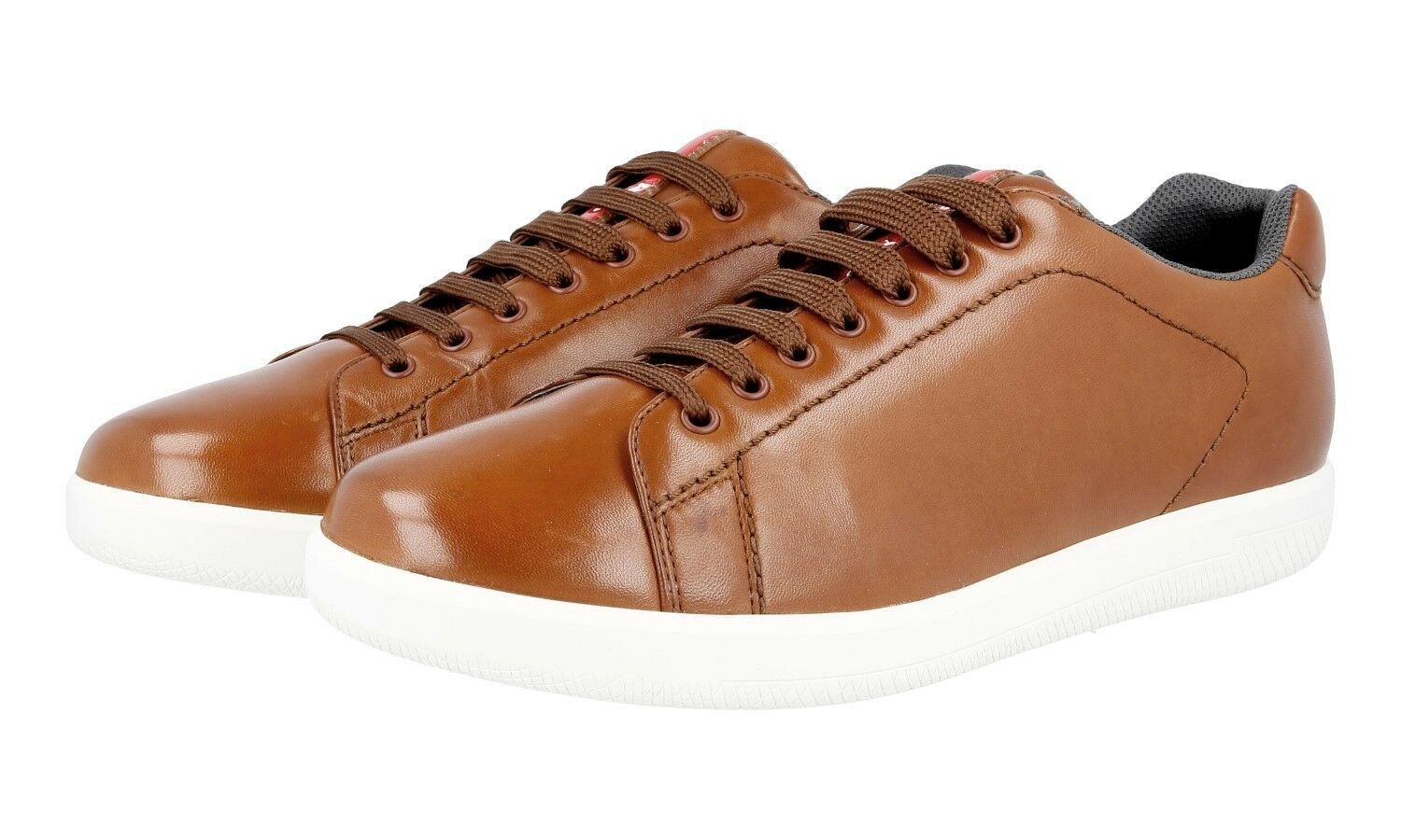 LUXUS PRADA SNEAKER SCHUHE 4E2988 brown NEU NEW 8 42 42,5