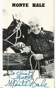 Monte-Hale-1919-2009-Actor-Giant-1956-Signed-3x5-Photo
