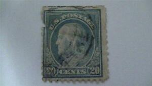 Image Is Loading Vintage Ultramarine USA Used 20 Cent Stamp