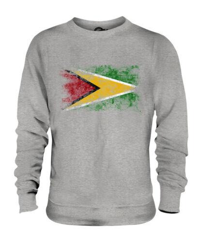 Consumato Francese Maglione Effetto Bandiera Calcio Unisex Guyana Della qZTESvW