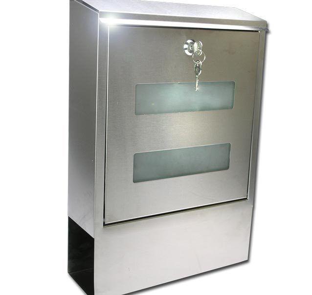 Design Briefkasten Edelstahl Glas Zeitungsfach 1030 Ebay