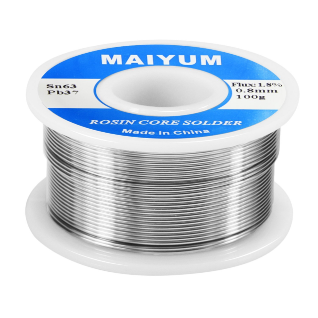 63//37 Tin Lead 0.8mm Diameter Rosin Core Flux Soldering Welding Iron Wire Reel