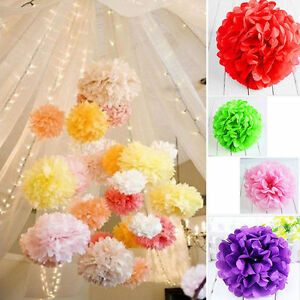 Image Is Loading 5pcs Wedding Party Diy Tissue Paper Pompoms Pom