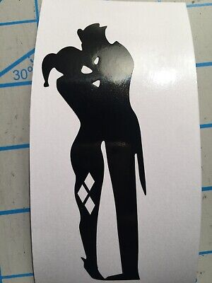 Suicide Squad Harley Quinn Love Kissing Silhouette Vinyl