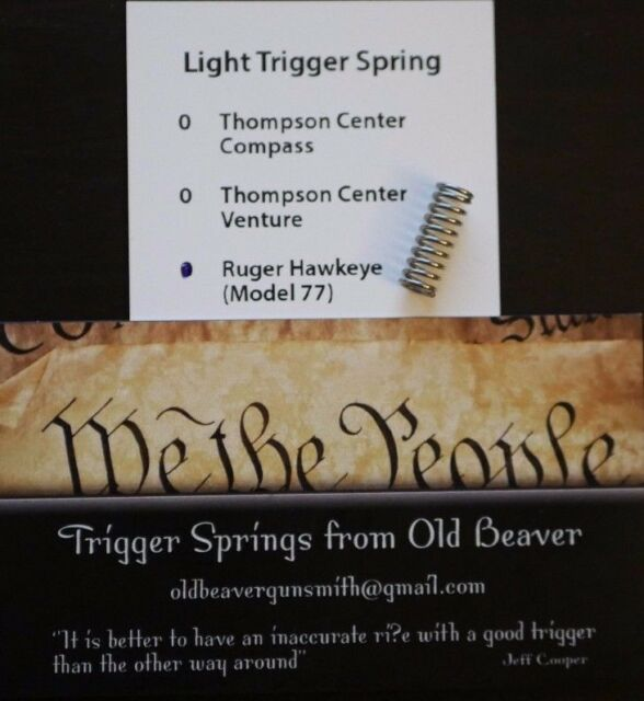 Ruger M77 Hawkeye Light Trigger Spring (TARGET)