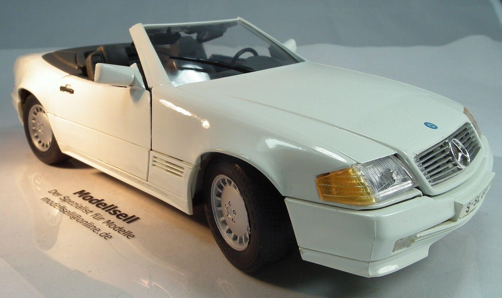 Mercedes-benz 500sl cabrio 1989 en escala 1 18 18 18 coche modelo de maisto 2cb25e