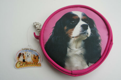 KING CHARLES CAVALIER Tri Colore Portamonete Ideale Natale Stocking Filler