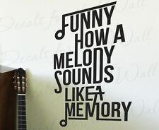 Eric Church Springsteen Love Song Decal Quote Vinyl Wall Art Sticker Decor Q67