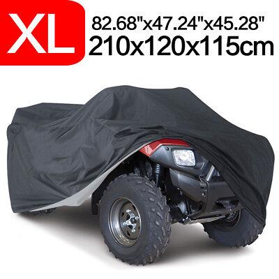 XL Black Waterproof ATV Quad Bike Cove Storage Fit Honda Kawasaki Suzuki Yamaha