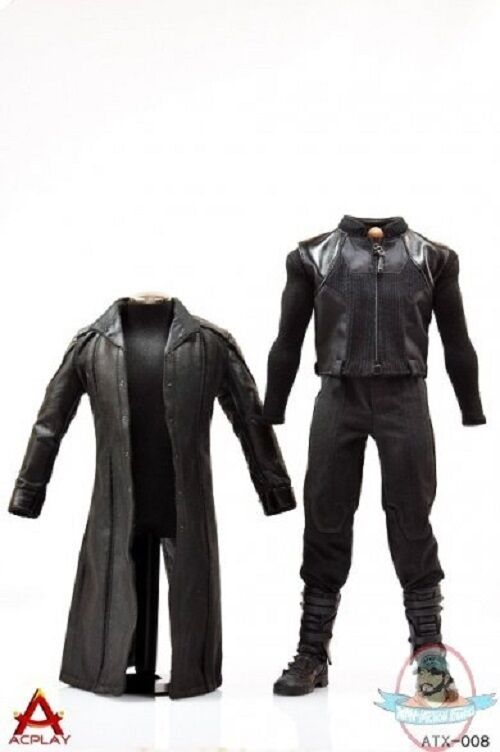 ACPLAY 1 6 Figure Accessories Leather Coat Suit AP-ATX008