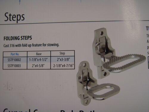 SSTP10002 NEW Folding Step Cast 316 Stainless Boat//Marine