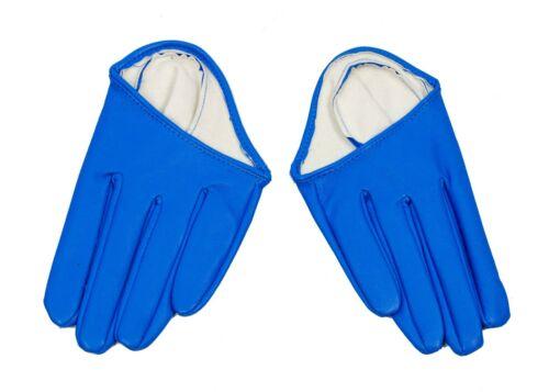 Half Palm Gloves Racing Fashion Accessory Aqua Blue