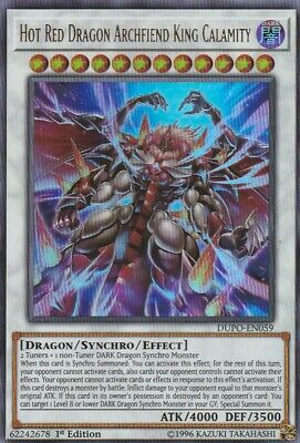 Ultra Rare Hot Red Dragon Archfiend King Calamity 1st Ed DUPO-EN0 Yugioh