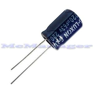 2-5-10-pcs-220uF-63V-Electrolytic-Radial-Capacitor-85C-10x15mm