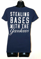 NWT VICTORIA'S SECRET PINK MLB Baseball T SHIRT Stealing Bases with YANKEES NEW