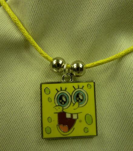 Damen Herren Kinder Spongebob Schwammkopf Anhänger gelb inkl. Kette gelb NEU