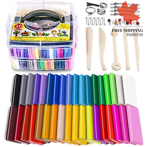 Polymer Clay Starter Kit 36 Colors Oven Bake Clay Baking Modeling Clay DIY Cr...