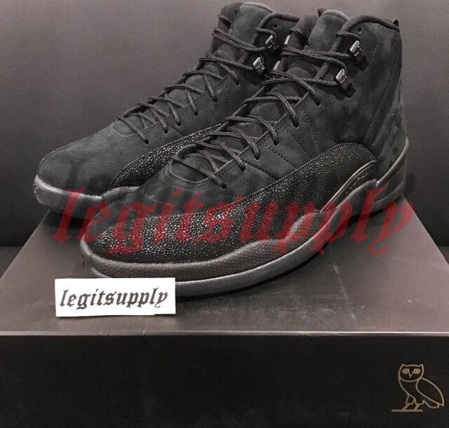 58d419c694b Nike Air Jordan 12 XII Retro OVO 11 Black Metallic Gold 873864-032 Drake
