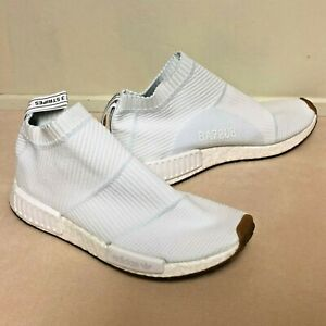 save off a14fb 168c5 Details about Adidas Men's NMD City Sock White Gum BA7208 Primeknit Clean  Sneakers SZ 9.5 US