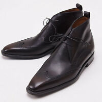 $1290 Sutor Mantellassi Dark Brown Leather Wingtip Ankle Boots Us 8 D Shoes on sale