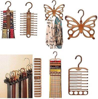 Closet Organizer Belt Necktie Scarf Muffler Plastic Hanger Rack Storage Holder