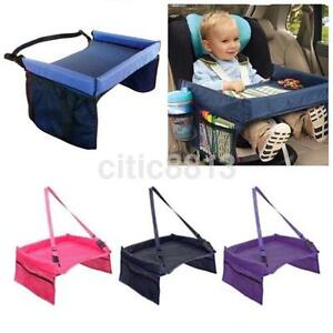 child playing eating tray for car seat plane and buggy toddler portable travel u ebay. Black Bedroom Furniture Sets. Home Design Ideas