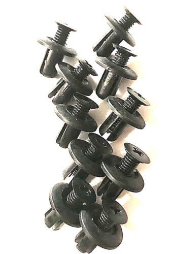 10pc OEM Hyundai Kia Push Bumper Clip Fastener Retainers Hood Liner Screw Rivets