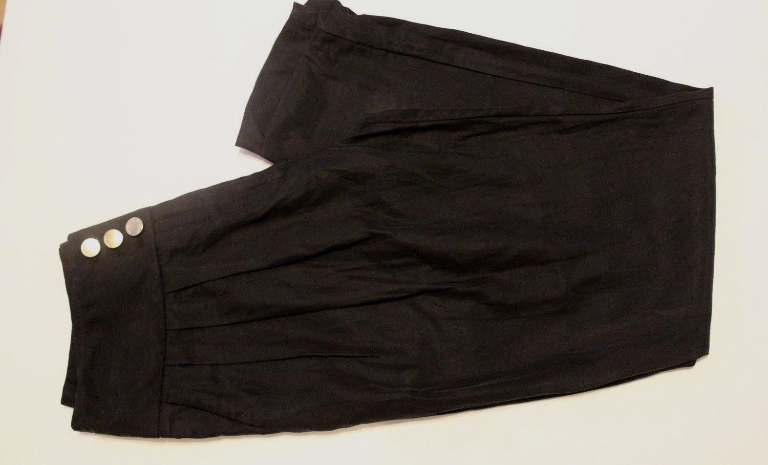Karen Millen Nero Pulsante Pleat Harem Harem Harem drappo di cotone Relax Fit Pantaloni fc01a4