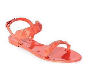 0dc937c8d463 NIB Rebecca Minkoff Jana Orange Coral Studded Rubber Jelly Sandal Sz ...