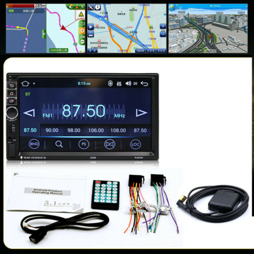 2Din Android Car Stereo GPS Navigation MP5 Radio Steering wheel control 4-core