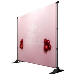 US Stock 8 x 10ft Step and Repeat Adjustable Backdrop Telescopic Banner Stand