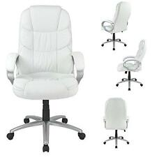 bestoffice high back leather computer chair - white   ebay