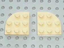 LEGO Star Wars tan plate corner round 30357 /sets 7190 7110 7184 7111 7126 ...