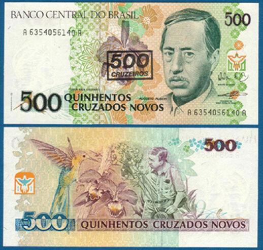 BRASILIEN / BRAZIL 500 Cruzeiros (1990) UNC P.226 b