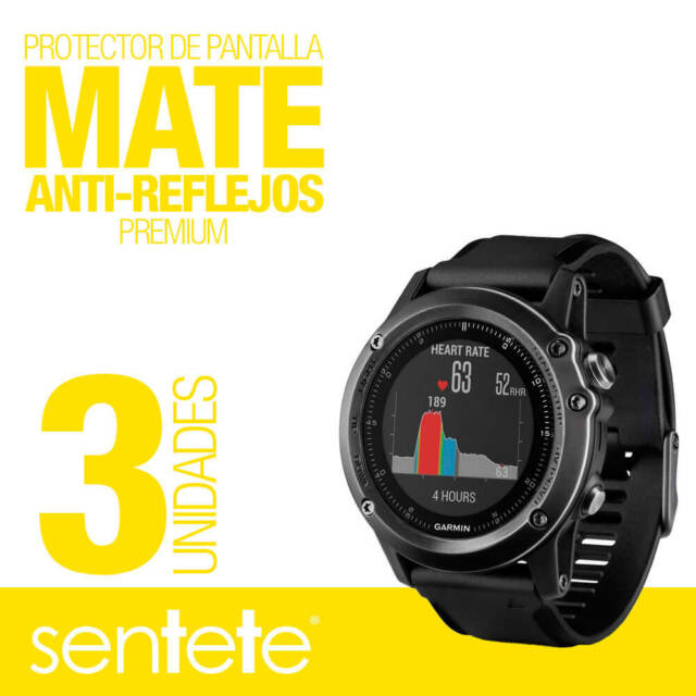 Sentete 3x Garmin Fenix 3 Hr Protector De Pantalla Mate Premium