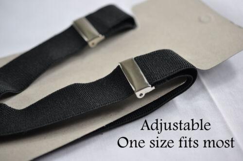 Brick Red Bow Tie Bowtie 1-8 Years Old BOY KIDS BLACK Braces Elastic Suspenders