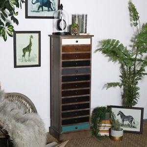 Tallboy Hoch Dünn Holz Vintage Stil Kommode Home Möbel Aufbewahrung ...