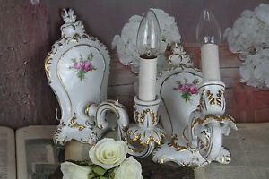 gorgeous-Vintage-PAIR-French-porcelain-70-039-s-sconces-floral-wall-lights