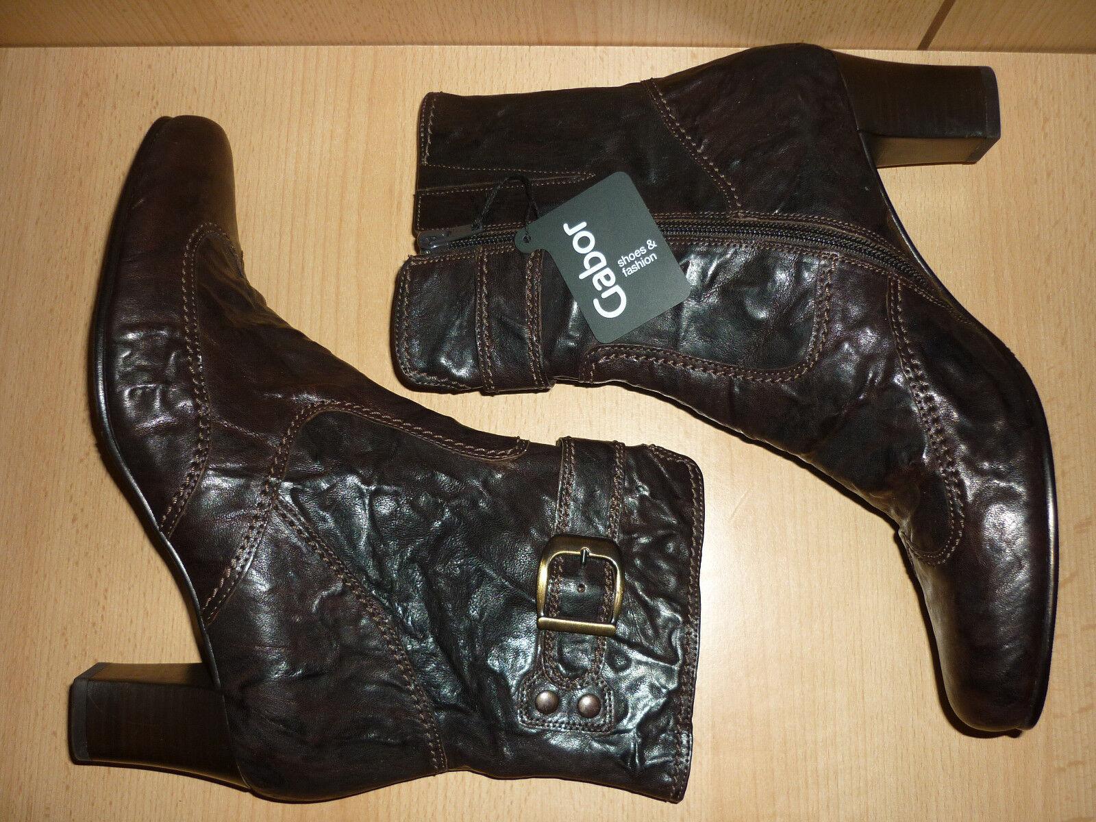 Gabor Comfort Stiefel, Stiefeletten, Echt Leder, Gr. 6,5 / 39,5, gefüttert